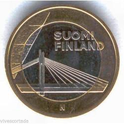 FINLANDIA 5 EUROS 2012 FLORA ARTICA BIMETALICA SC