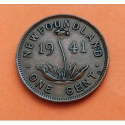 CANADA NEW FOUNDLAND 1 CENTAVO 1873 VICTORIA MBC++ COBRE CENT