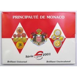 MONACO CARTERA EUROS 2011 BU SET 1+2+5+10+20+50 Centimos 1+2€