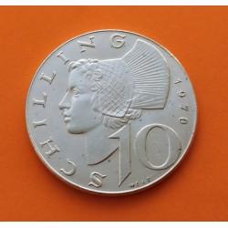 AUSTRIA 25 SCHILLINGS 1967 MARIA THERESA PLATA SC- SILVER