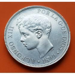 .ALFONSO XIII 5 PESETAS 1898 * 18 / 98 SGV PLATA MBC++ ESPAÑA 1