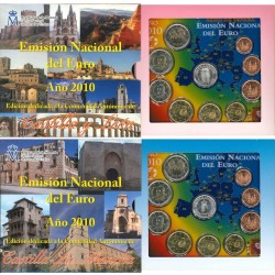 ESPAÑA CARTERA FNMT EUROS COMUNIDADES 2010 (2 uds) KMS SET