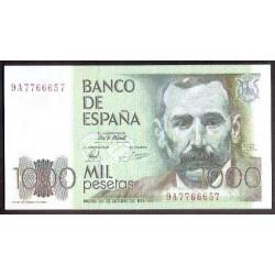 ESPAÑA 1000 PESETAS 1979 BENITO PEREZ GALDOS @RARA SERIE 9A@ Pick 158 BILLETE SIN CIRCULAR SC PLANCHA Spain