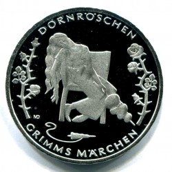 . ALEMANIA 10€ EUROS 2015 Ceca D LA BELLA DURMIENTE Nickel SC