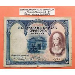 500 PESETAS 1927 JULIO 24 REINA ISABEL SIN SERIE 1971920 EBC-