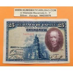 @RARO@ ESPAÑA 25 PESETAS 1928 CALDERON DE LA BARCA Sin Serie 7465653 Pick 40 BILLETE MBC++ Spain banknote