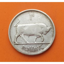 IRLANDA 1 SHILLING 1935 TORO KM.6 MONEDA DE PLATA MBC- Eire Ireland Bull silver coin