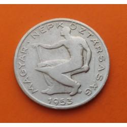 HUNGRIA 20 FORINT 1985 BP PEZ y HOJA DE ARBOL AÑO DE LA FAO KM.653 MONEDA DE NICKEL SC Hungary