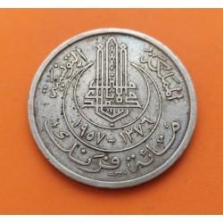 TUNEZ 100 FRANCOS 1957 ANAGRAMA KM.276 MONEDA DE NICKEL MBC @ESCASA@ Tunisia Tunisie 100 Francs Colonía de Francia