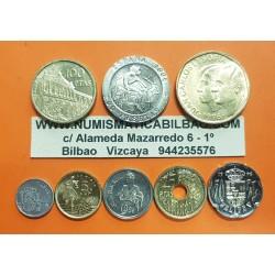 ..ESPAÑA SERIE 1996 : 1+5+10+25+50+100+200+500 PESETAS SC