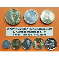 ..ESPAÑA SERIE 1999 : 1+5+10+25+50+100+200+500 PESETAS SC