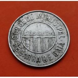 . SEGARRA DE GAIA CONSEJO MUNICIPAL 1 PESETA LATON-COBRE-NIKEL