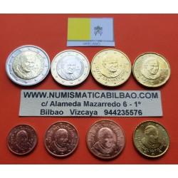 VATICANO CARTERA EUROS 2013 SET 1+2+5+10+20+50 Centimos 1+2€