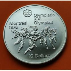 . CANADA 5 DOLARES 1973 OLIMPIADA MONTREAL BARCOS PLATA SC