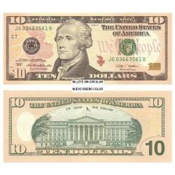 . $10 DOLARES 2013 ESTADOS UNIDOS HAMILTON SC 10 DOLLARS