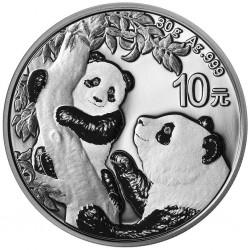 . .10 YUAN 2016 CHINA OSO PANDA PAGODA PLATA UNC SILVER 30 Grs.
