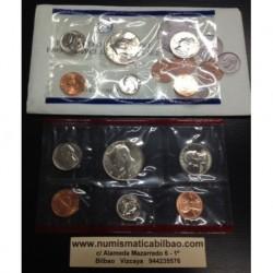 1989 UNITED STATES MINT UNCIRCULATED COIN SET D+P 10 COINS ESTADOS UNIDOS 1+5+10+25 CENTAVOS + 1/2 DOLAR KENNEDY