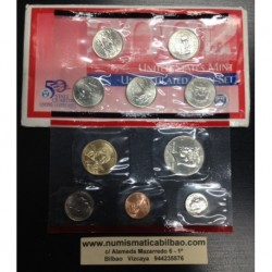2002 UNITED STATES MINT UNCIRCULATED COIN SET Letra D 10 COINS ESTADOS UNIDOS 1+5+10+25 CENTAVOS + 1/2 DOLAR + 1 DOLAR