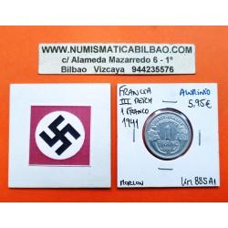 FRANCIA 1 FRANCO 1944 C BAZOR KM*902.3 III REICH NAZI WWII