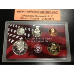 1+5+10 Centavos + 1/2 DOLAR KENNEDY + 1 DOLAR INDIA 2002 PLATA FROM SILVER US MINT PROOF SET