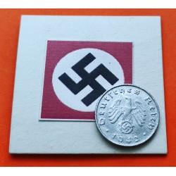 DITTRES REICH GERMANY 10 REICHSPFENNIG 1940 B SWASTIKA NAZI ZINC