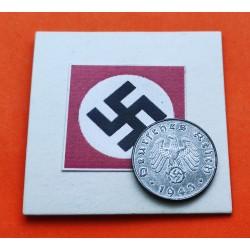 DITTRES REICH GERMALEMANIA 10 REICHSPFENNIG 1943 G ESVASTICA NAZ