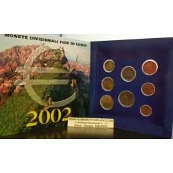 SAN MARINO CARTERA OFICIAL EUROS 2002 BU SET KMS