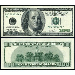 . 100 DOLARES 2009 ESTADOS UNIDOS WASHINGTON SC DOLLARS $100