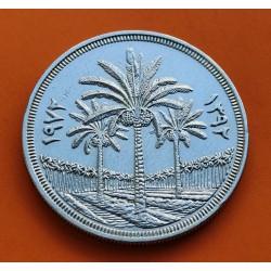 .IRAK 1 DINAR 1972 PALMERAS SC SILVER IRAQ JUBILEE KM*137