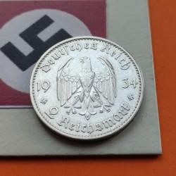 ALEMANIA 2 MARCOS 1934 J IGLESIA POSTDAM FECHA III REICH PLATA 1