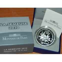 FRANCE FRANKREICH 10 EUROS 2010 SILVER PP SEMEUSE