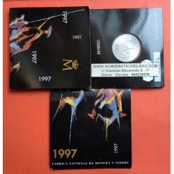 ...ESPAÑA CARTERA FNMT 2000 PESETAS 1996 GOYA PLATA SC BU