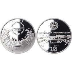 PORTUGAL 10 EUROS 2006 PLATA SC MUNDIAL FUTBOL ALEMANIA SILVER