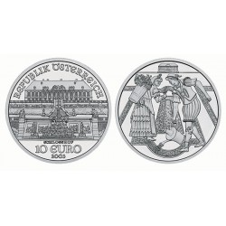 AUSTRIA 10 EUROS 2003 SCHLOSS HOF PLATA SC SILVER UNC