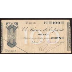 BILBAO 100 PESETAS 1936 BANCO DEL COMERCIO 319972 EUZKADI
