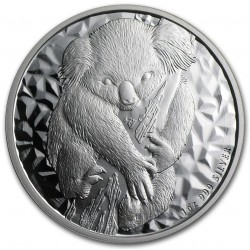 AUSTRALIA 1 DOLAR 2007 KOALA PLATA Silver $1 Dollar Oz