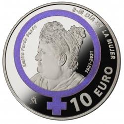. ESPAÑA 10 EUROS 2015 PLATA 70 AÑOS DE PAZ REY FELIPE VI FNMT