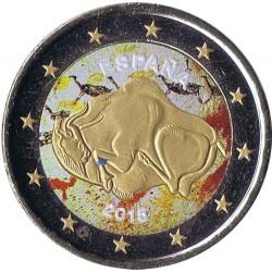 . 2 EUROS 2015 @COLORES@ ESPAÑA ALTAMIRA SIN CIRCULAR ORO/GOLD
