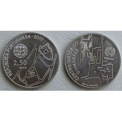 PORTUGAL 2,50 EUROS 2012 UNESCO CENTRO HISTORICO DE GUIMARAES MONEDA DE NICKEL SC