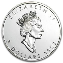 CANADA 5 DOLARES 1999 HOJA DE ARCE PLATA PURA SC SILVER DOLLAR