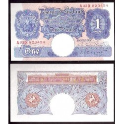 INGLATERRA £1 LIBRA 1940 1948 PEPPIATT PICK 367A SC- BILLETE UK