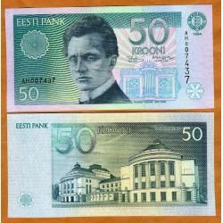 . ESTONIA 10 KROONI 1991 JACOB HURT Pick 72A SC ESTONIE