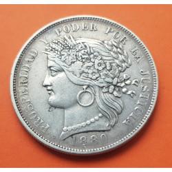 . PERU 1/2 SOL 1925 Ceca de LIMA DAMA PLATA MBC+ Silver