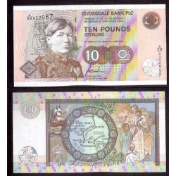 ESCOCIA 10 LIBRAS 1997 CLYDESDALE BANK Pick 226 SC SCOTLAND UNC