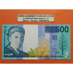 . BELGICA 500 FRANCOS 1998 RENE MAGRITTE Pick 149 EBC Francs