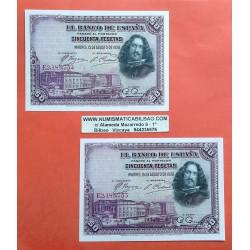 50 PESETAS 1928 AGOSTO 15 VELAZQUEZ Serie E5162791 SC ESPAÑA