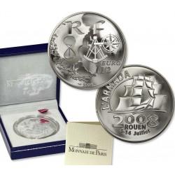 FRANCE FRANKREICH 1,50 EUROS 2008 SILVER PP ARMADA SHIP