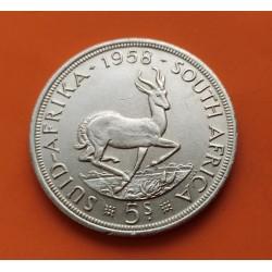 .SUDAFRICA 5 SHILLINGS 1948 ANTILOPE PLATA SC SOUTHAFRICA KM*40.