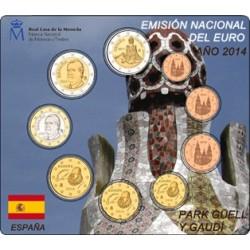 . ESPAÑA CARTERA FNMT 2014 ULTIMOS EUROS REY JUAN CARLOS I