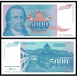 . YUGOSLAVIA 5000 DINARA 1985 TITO Pick 93 SC BILLETE DINAR